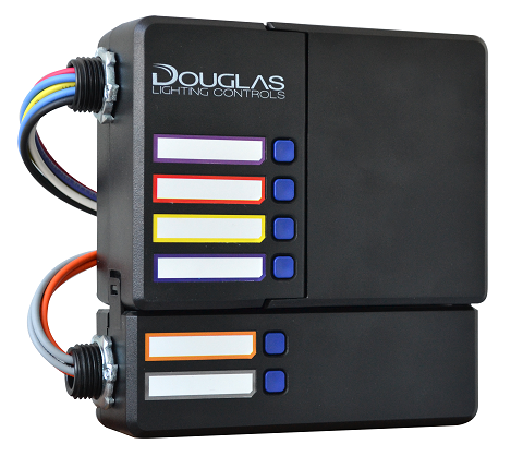 Douglas lighting controls four relay circuits four independent dimming channels and an optional two circuit ul 924 expansion pack shown asfbconference2016 Choice Image